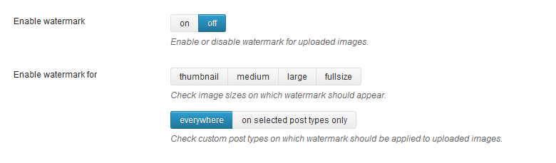 Watermark images WordPress