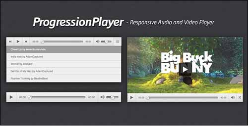 ProgressionPlayer – Responsive Audio/Video Player