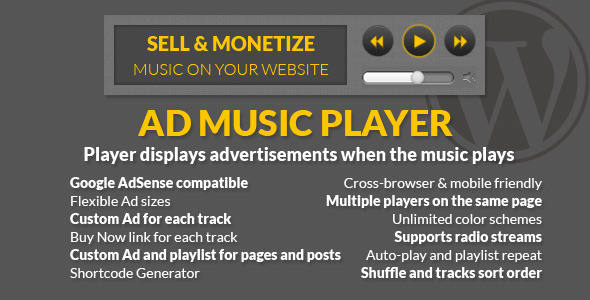Ad Music Player - HTML5 WordPress Music Player Plugins
