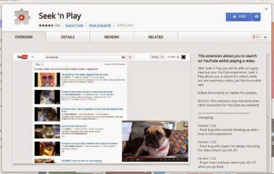 Search YouTube Videos While Watching on YouTube in Chrome