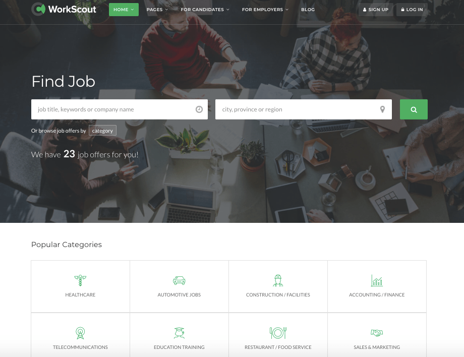 WorkScout Job board theme