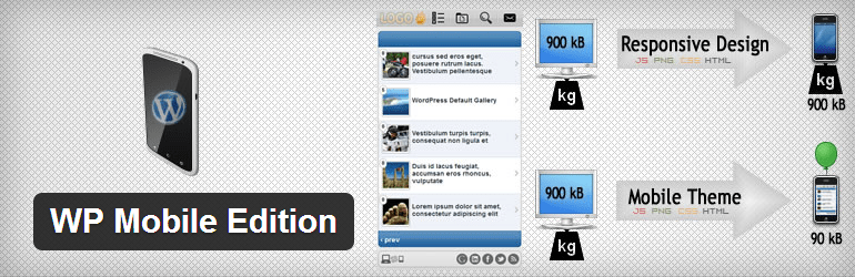 WP Mobile Edition Mobile friendly WordPress Plugin