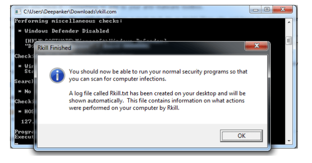 Clean Malware Infection in Windows With Rkill