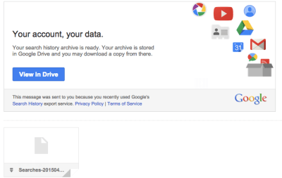 How to download your Google search history
