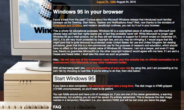 Windows 95 in browser