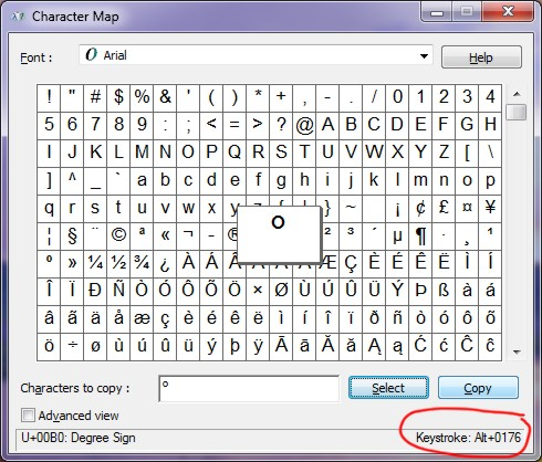 How to type Degree Symbol in MS Word, Unicode, and HTML
