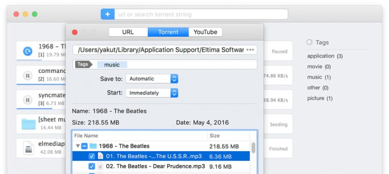 Folx : Download manager for Mac