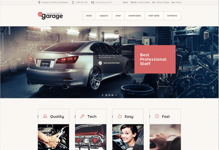 Garage WordPress theme
