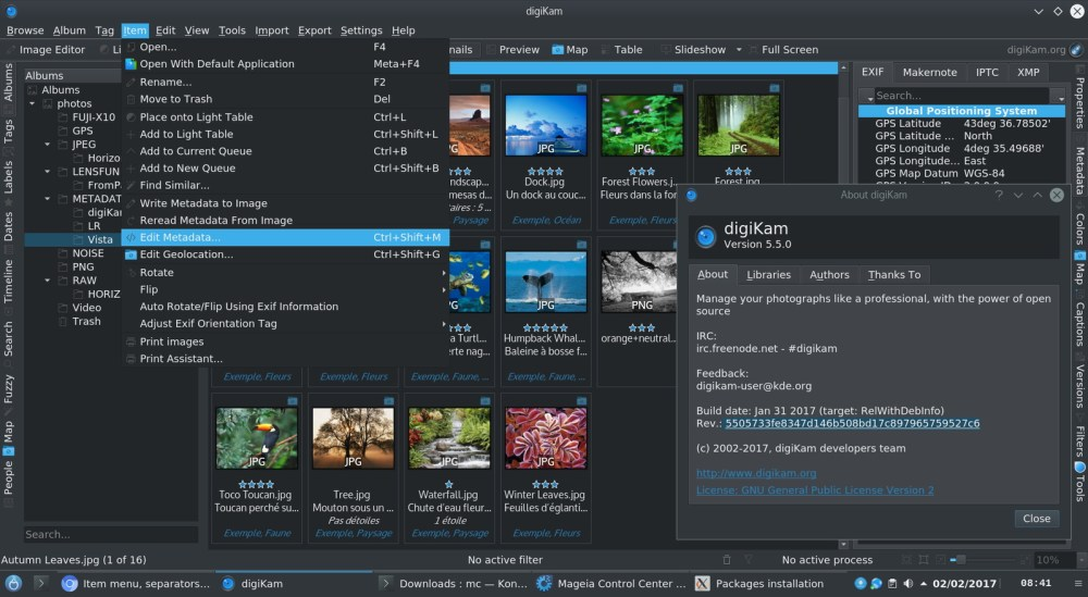digikam Photo editor for Linux