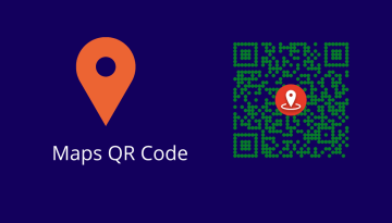 How to share Google Maps location using QR code?