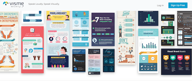 Visme Infographics maker