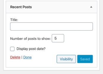 Display WordPress Recent Posts using a Widget