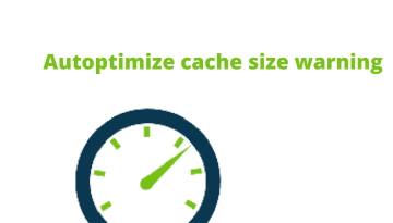 How to fix Autoptimize cache size warning
