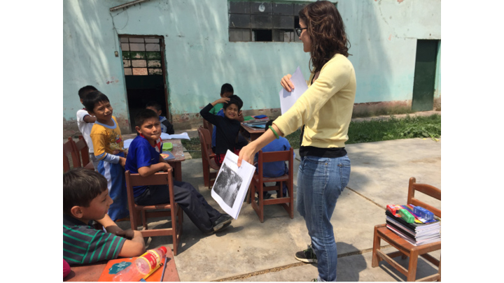 PCGS student Ericka M on her capstone research internship teaching the value of composting to school children in Peru