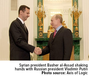 Syrian-president-Basher-al-Assad-shaking-hands-with-Russian-president-Vladimir-Putin