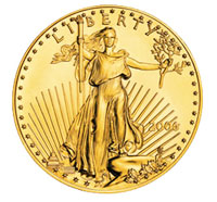United States of America gold eagle coin