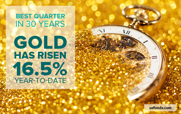 Best Quarter in 30 Years - Gold Has Risen 16.5% Year-to-Date