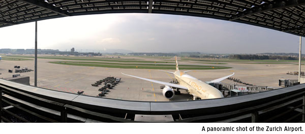 Panoramic Zurich Airport