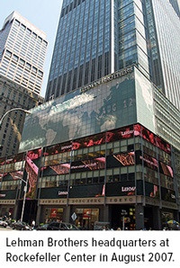 Lehman Brothers headquarters at Rockefeller Center in August 2007