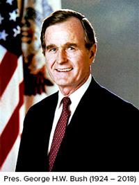 President George HW Bush 1924-2018