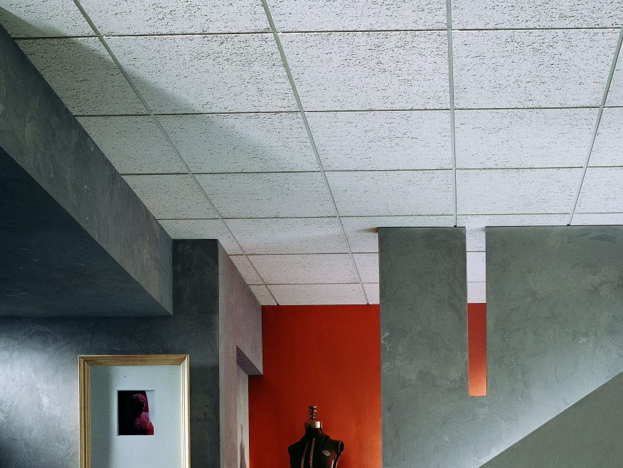 f fissured basic acoustical ceiling