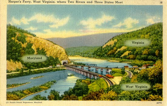 Image result for Harpers Ferry postcard