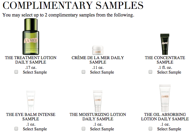 La Mer gift with purchase - Free 1 oz hand cream + 2 more samples ...