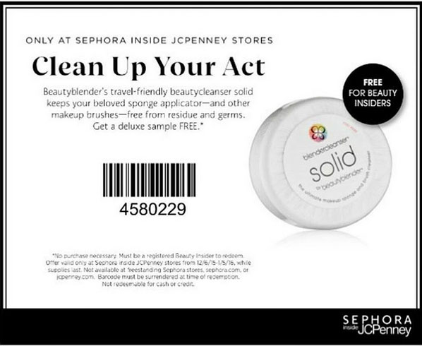 sephora free beautyblender solid soap