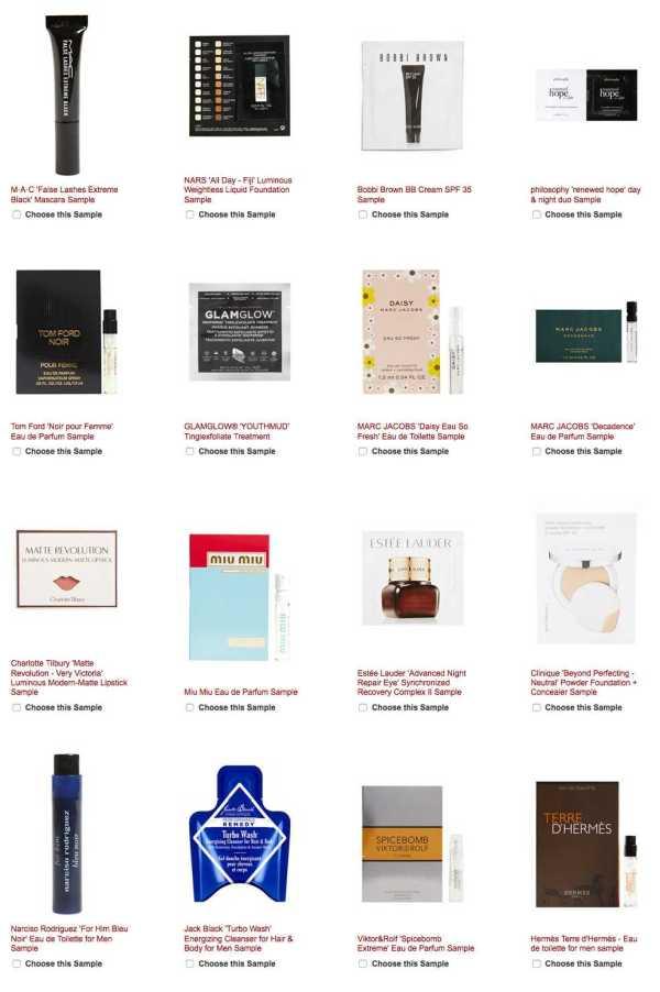 Nordstrom: Free Chanel Mascara Base + Mascara samples + 3 samples ...