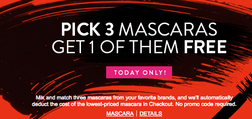 nordstrom buy 2 mascara get 1 free free chanel ysl and mac