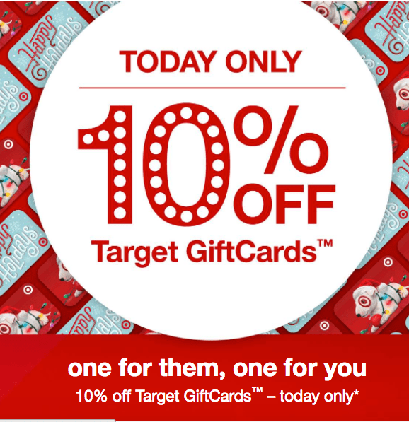 Target: 10% off gift card - today only | Gift With Purchase
