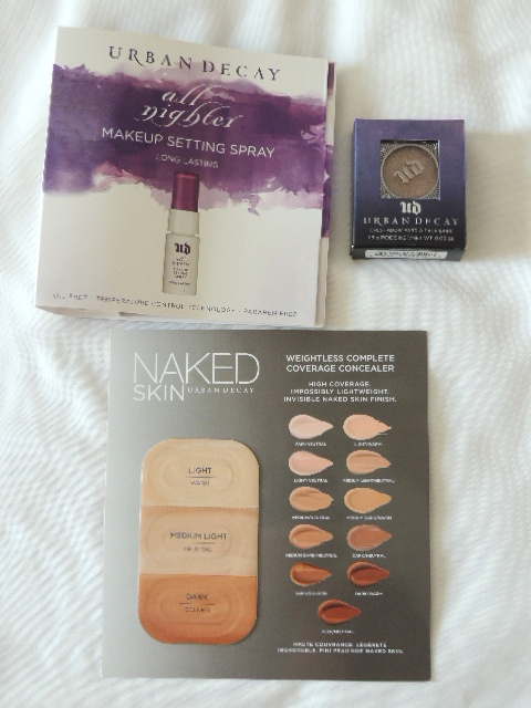 My Urban Decay purchase + free gifts   Gift With Purchase