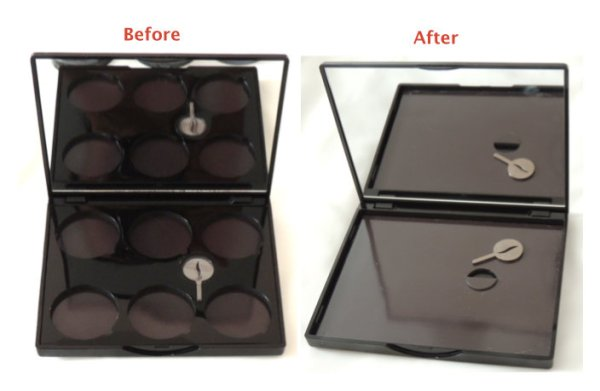 Turn Sephora 6 pan eyeshadow palette into Z Palette.jpg