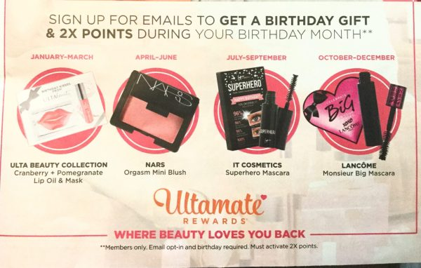 Ulta Birthday Gifts 2018