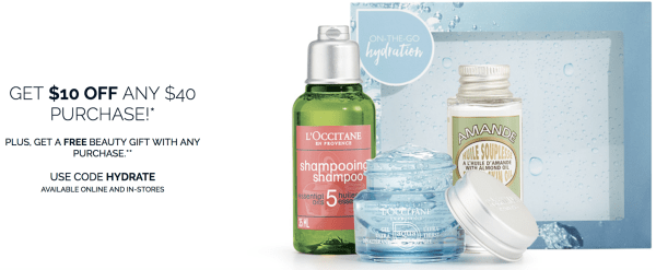LOccitane Free 3 Pcs Gift Shipping With Any Purchase 10 Off 40