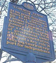historic marker in Philadelphia