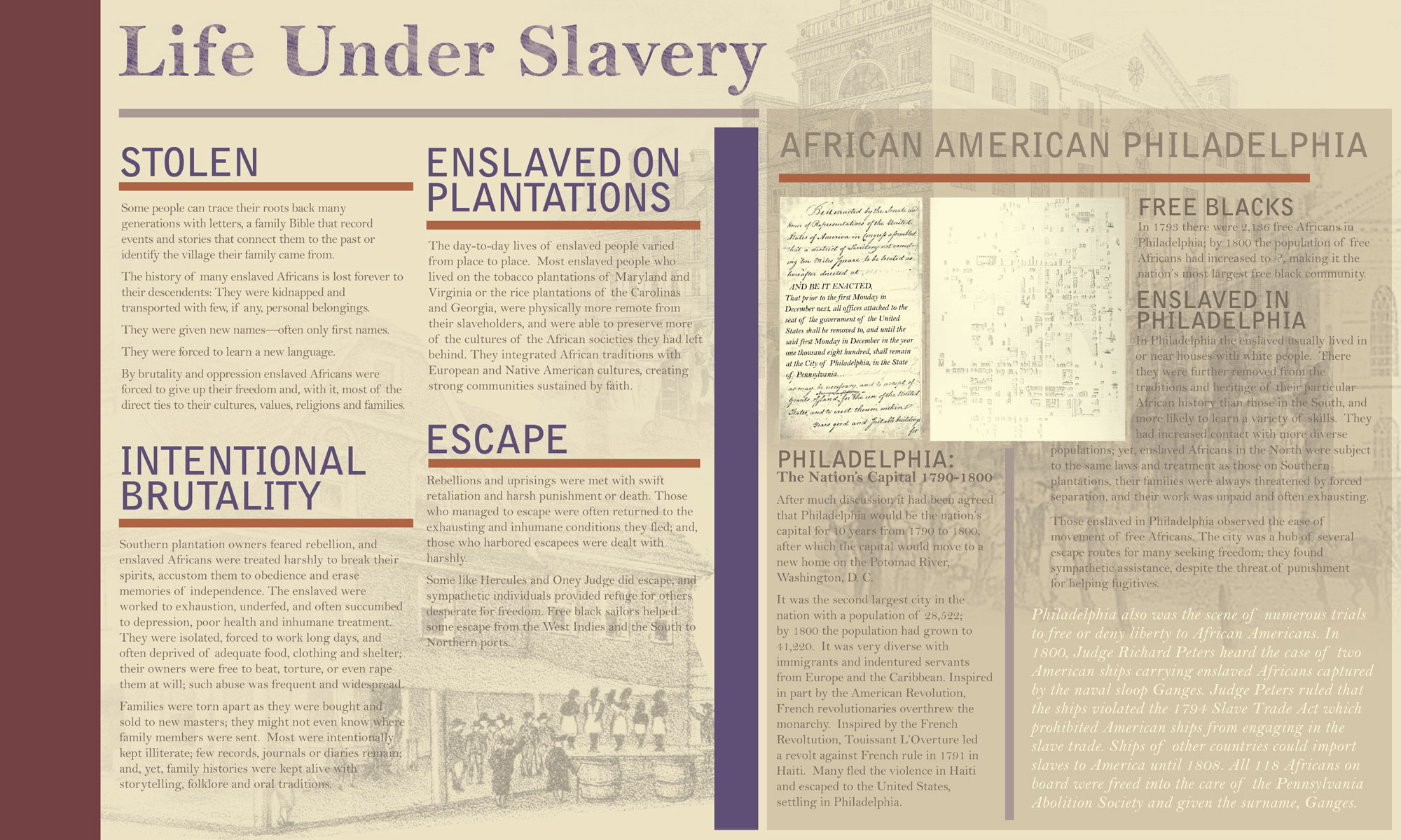 President S House Interpretive Plan Life Under Slavery 1