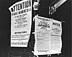 Publicly posted instructions for Japanese-Americans to turn themselves in