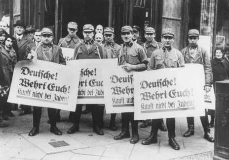 Alemanes! Defiendase ustedes mismos! No le compren a los judíos! Berlin, 1933
