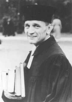 Martin Niemöller, a prominent Protestant pastor who opposed the Nazi regime. He spent the last seven years of Nazi rule in concentration camps. Germany, 1937.