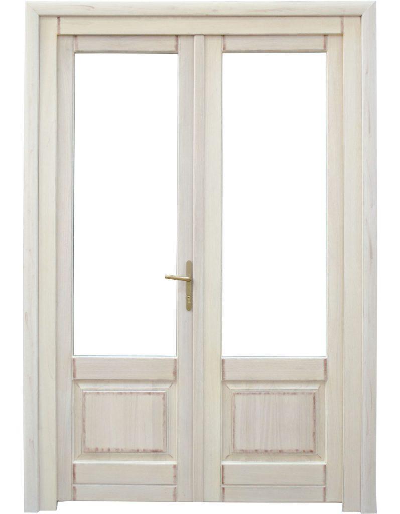 Usa de exterior din lemn cu geam model AT2-2K
