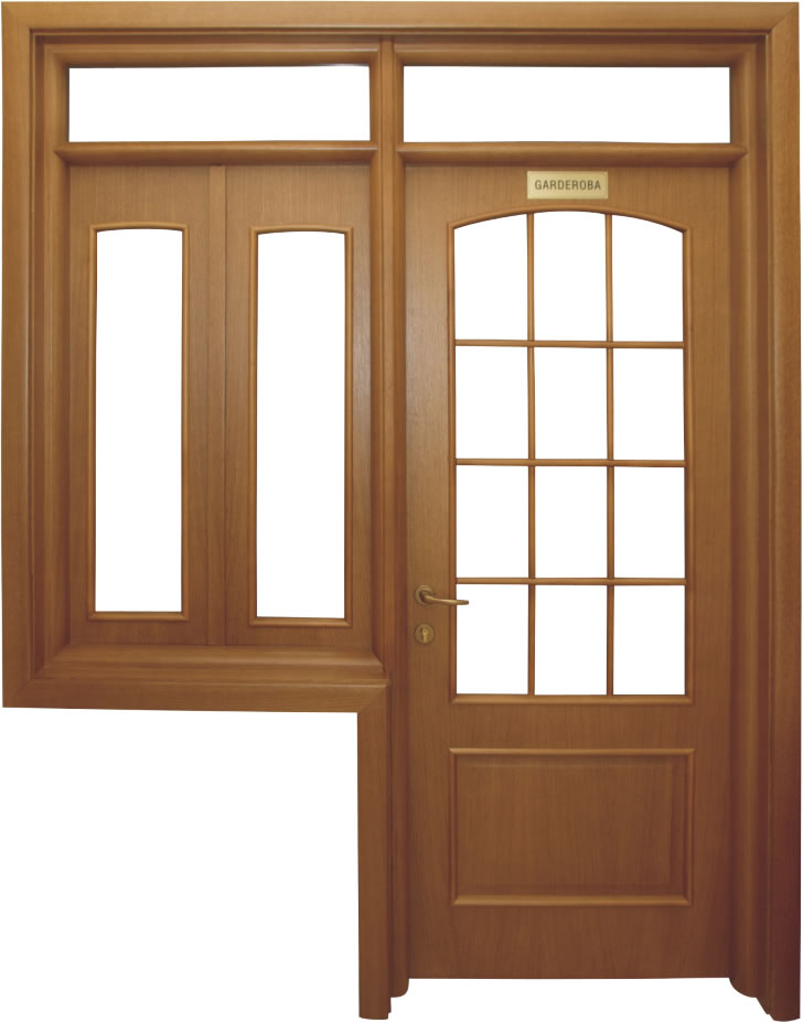 Usa de interior din lemn cu geam model A82