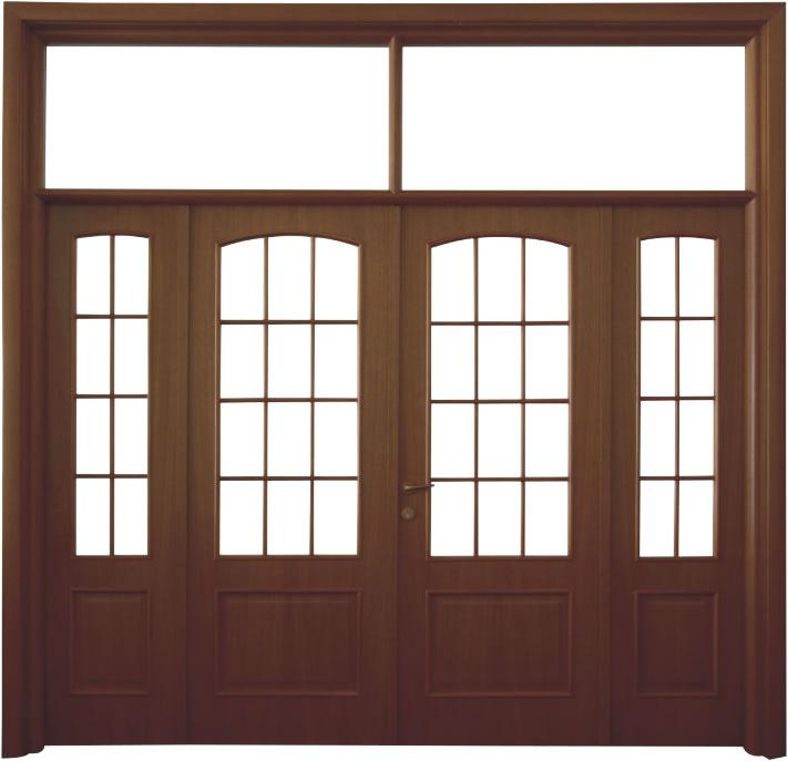 Usa de interior din lemn cu geam si luminator model A82-4K