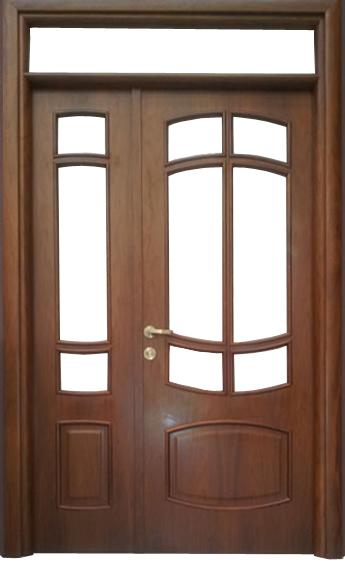 Usa de interior din lemn cu geam si luminator model ASP68-2K-I