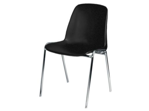 chaises d accueil en plastique noir