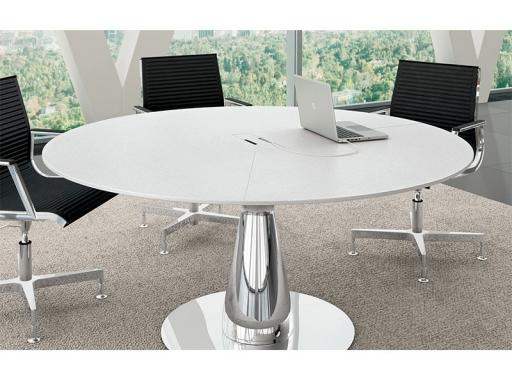 table de reunion ronde meteor