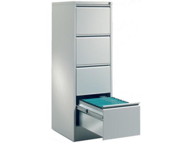 caisson metal 4 tiroirs 1 rail pour rangement dossiers suspendus