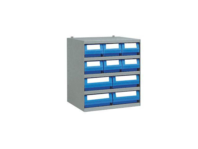 casier avec 10 bacs tiroirs plastique de rangement de la marque setam