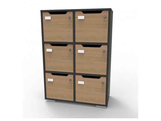 meuble casier a 6 cases cas caseo6 gra chec