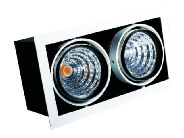 spot led double orientable 2x40w avec transformateur philips